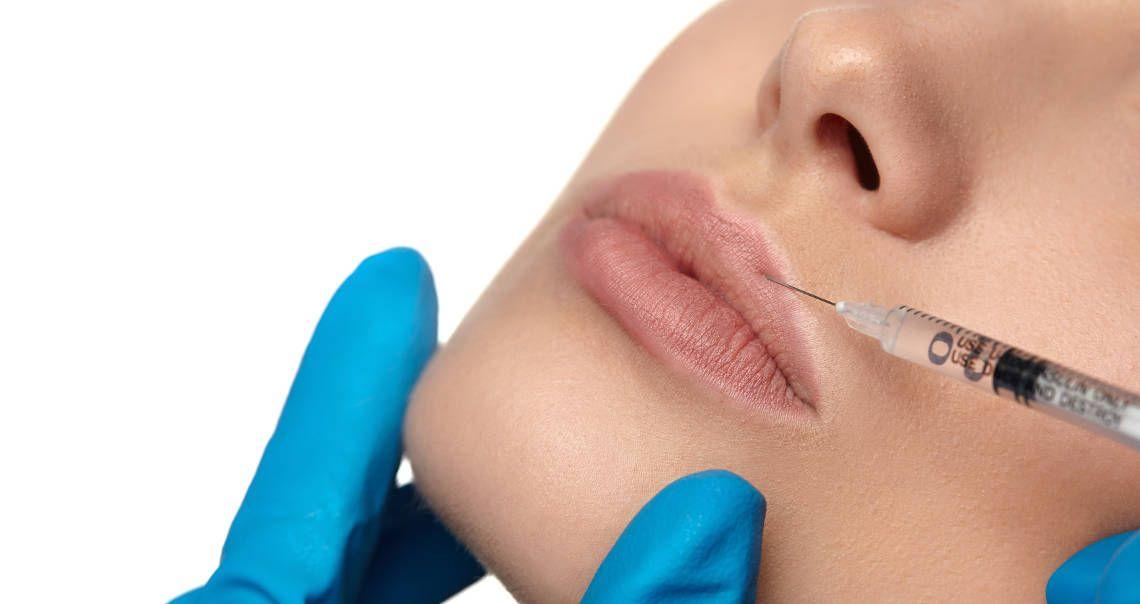 Relleno y aumento de labios