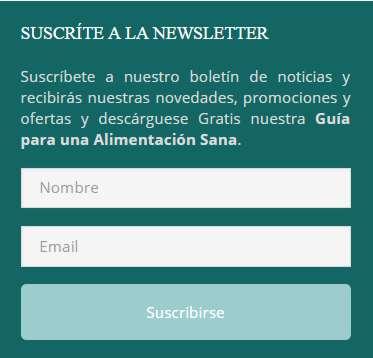 Suscripción a la Newsletter de Línea Ideal