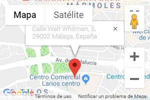 Mapa de localización de la Clínica Línea Ideal en Málaga
