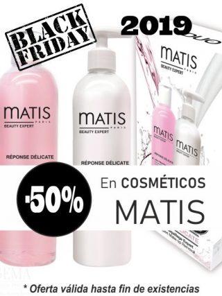 Oferta Black Friday 2019 50% de descuento en cosméticos MATIS hasta fin de existencias en clínica Linea Ideal