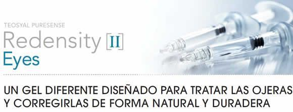 Tratamiento ojeras con Redensity II